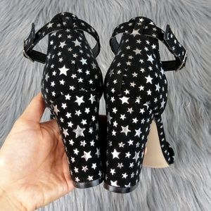 898f1dc1e35 Madden Girl Shoes - 🎉HP🎉Silver Stars Bella Block Heel Madden Girl